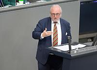 DEU, Deutschland, Germany, Berlin, 25.02.2021: Rudolf Henke (CDU) in der Plenarsitzung im Deutschen Bundestag.