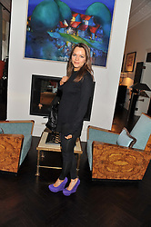 MARIA HATZISTEFANIS at an exclusive preview of fashion label Fay latest collections held at 21 Collingham Road, London SW5 on 12th June 2012.
