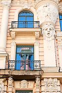 Art Nouveau building on Alberta iela (number 13), Riga, Latvia © Rudolf Abraham