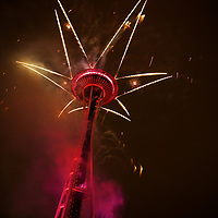 New Year's at the Needle - one of the most impressive Fireworks displays in the lower 48!