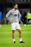 Cardiff City's Marlon Pack (21) during the pre-match warm-up at the EFL Sky Bet Championship match between Cardiff City and Birmingham City at the Cardiff City Stadium, Cardiff, Wales on 16 December 2020.