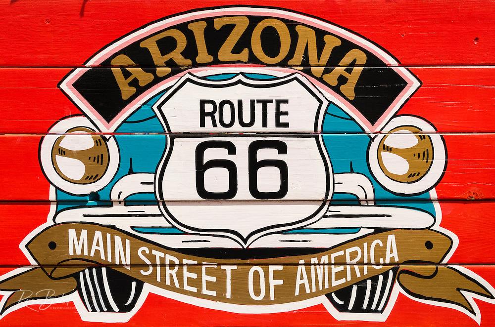 Sign on historic Route 66, Seligman, Arizona USA
