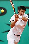 Roland Garros. Paris, France. May 31st 2007..2nd Round..Novak DJOKOVIC against Laurent RECOUDERC..
