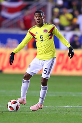 October 16, 2018 - Harrison, NJ, U.S. - HARRISON, NJ - OCTOBER 16:  Colombia midfielder Wilmar Barrios (5) during the  second half of the International Friendly Soccer Game between Colombia and Costa Rica on October 16, 2018 at Red Bull Arena in Harrison, NJ.  (Photo by Rich Graessle/Icon Sportswire) (Credit Image: © Rich Graessle/Icon SMI via ZUMA Press)
