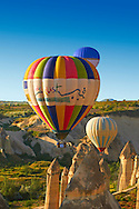 Hot Air Baloons over the Love Valley  at sunrise, Cappadocia Turkey .<br /> <br /> If you prefer to buy from our ALAMY PHOTO LIBRARY  Collection visit : https://www.alamy.com/portfolio/paul-williams-funkystock/cappadocia-balloons.html<br /> <br /> Visit our TURKEY PHOTO COLLECTIONS for more photos to download or buy as wall art prints https://funkystock.photoshelter.com/gallery-collection/3f-Pictures-of-Turkey-Turkey-Photos-Images-Fotos/C0000U.hJWkZxAbg