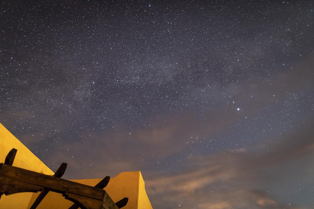 The Milky Way glows above La Hacienda de Smith on a summer evening.