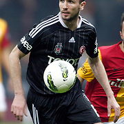 Besiktas's Tomas Sivok On or with the ball (stood full) during their Turkish superleague soccer derby match Galatasaray between Besiktas at the TT Arena at Seyrantepe in Istanbul Turkey on Sunday, 26 February 2012. Photo by TURKPIX