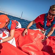 Leg 01, Alicante, PRO-AM race 1 on board MAPFRE. Photo by Ugo Fonolla/Volvo Ocean Race. 15 October, 2017