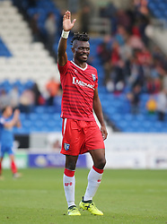 Former Peterborough United defender Gabriel Zakuani now of Gillingham acknowledges the Peterborough United supporters at full-time - Mandatory by-line: Joe Dent/JMP - 14/10/2017 - FOOTBALL - ABAX Stadium - Peterborough, England - Peterborough United v Gillingham - Sky Bet League One