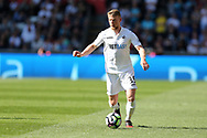Stephen Kingsley of Swansea city in action.  Premier league match, Swansea city v Stoke City at the Liberty Stadium in Swansea, South Wales on Saturday 22nd April 2017.<br /> pic by Andrew Orchard, Andrew Orchard sports photography.