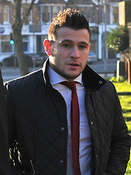 Licensed to London News Pictures. 16.01.2012. Southampton. UK. DANNY CARE arrives at court today.  England scrum-half Danny Care has been fined a total of £3,100 and banned from driving for 16 months today after pleading guilty to drink-driving in the early hours of New Year's Day.Photo credit: Christopher Gretkus/LNP Licensed to London News Pictures.