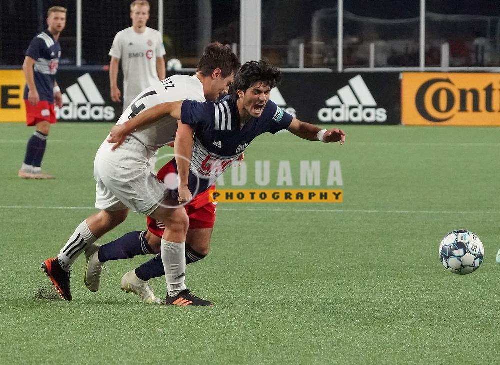 during New England Revolution II and Toronto FC II USL  League One match in FOXBORO, MA on Friday, July 23, 2021  Revs II won 1-0. CREDIT/ CHRIS ADUAMA