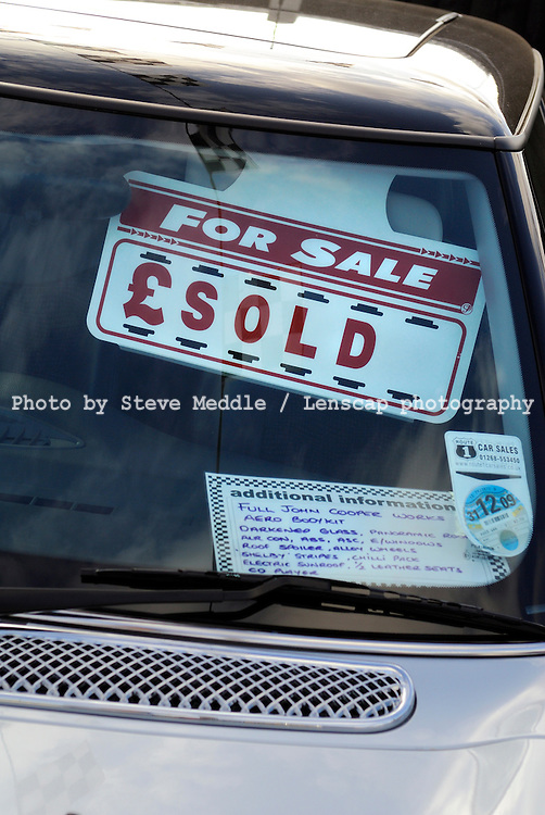 Used Cars for Sale on Garage Forecourt, Essex, Britain - 14th September 2009