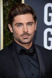 Zac Efron attending the 75th Annual Golden Globes Awards held at the Beverly Hilton in Beverly Hills, in Los Angeles, CA, USA on January 7, 2018. Photo by Lionel Hahn/ABACAPRESS.COM