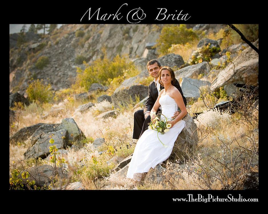 Mark and Brita's wedding day.