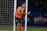 Marco Silvestri , the Leeds Utd goalkeeper looks on, stats show that the keeper made more saves in this match than any other goalkeeper in the Championship this season. .  Skybet football league championship match, Cardiff city v Leeds Utd at the Cardiff city stadium in Cardiff, South Wales on Tuesday 8th March 2016.<br /> pic by Andrew Orchard, Andrew Orchard sports photography.