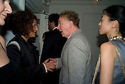TIZIANA FINZI; MALCOLM MCLAREN; YOUNG KIM. Party hosted by Franca Sozzani and Remo Ruffini in honour of Bruce Weber to celebrate L'Uomo Vogue The Miami issuel by Bruce Weber. Casa Tua. James Avenue. Miami Beach. 5 December 2008 *** Local Caption *** -DO NOT ARCHIVE-© Copyright Photograph by Dafydd Jones. 248 Clapham Rd. London SW9 0PZ. Tel 0207 820 0771. www.dafjones.com.