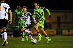 Aaron Collins of Forest Green Rovers is chased down by Tom Conlon of Port Vale- Mandatory by-line: Nizaam Jones/JMP - 16/01/2021 - FOOTBALL - innocent New Lawn Stadium - Nailsworth, England - Forest Green Rovers v Port Vale - Sky Bet League Two