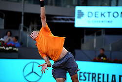 May 5, 2019 - Madrid, Spain - Denis Shapovalov (CAN) during day two of the Mutua Madrid Open at La Caja Magica in Madrid on 5th May, 2019. (Credit Image: © Juan Carlos Lucas/NurPhoto via ZUMA Press)