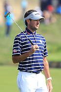 Bubba Watson (Team USA) on the 1st fairway during the Friday Foursomes at the Ryder Cup, Le Golf National, Ile-de-France, France. 28/09/2018.<br /> Picture Thos Caffrey / Golffile.ie<br /> <br /> All photo usage must carry mandatory copyright credit (© Golffile | Thos Caffrey)