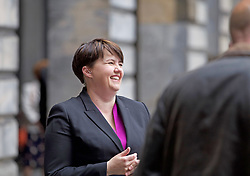 "Scottish Conservative Party leader Ruth Davidson was in cheerful mood outside Edinburgh City Chambers after declaring she was ""reasonably pleased"" with the results in the European Parliament Elections. pic copyright Terry Murden @edinburghelitemedia"