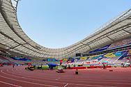 General stadium view inside the Khakifa International Stadium before the 2019 IAAF World Athletics Championships at Khalifa International Stadium, Doha, Qatar on 27 September 2019.