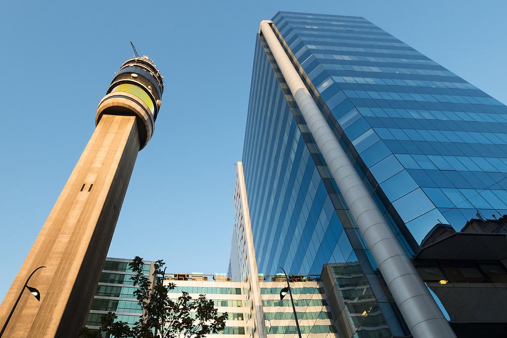 Cityscape of downtown Santiago de Chile