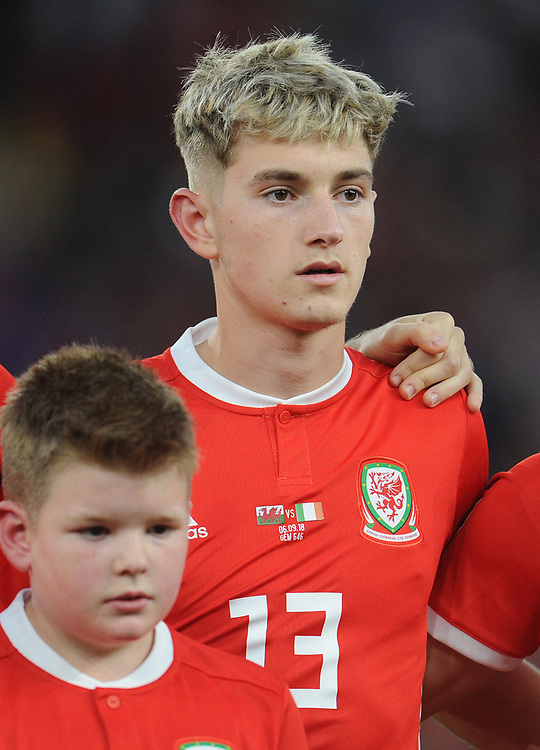 Wales' David Brooks<br /> <br /> Photographer Kevin Barnes/CameraSport<br /> <br /> UEFA Nations League - Group Stage - League B - Group 4 - Wales v Republic of Ireland - Thursday September 6th 2018 - Cardiff City Stadium - Cardiff<br /> <br /> World Copyright © 2018 CameraSport. All rights reserved. 43 Linden Ave. Countesthorpe. Leicester. England. LE8 5PG - Tel: +44 (0) 116 277 4147 - admin@camerasport.com - www.camerasport.com