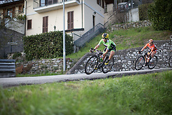 Rossella Ratto (Cylance Pro Cycling) leans into the corner during the third, short lap of the Trofeo Alfredo Binda - a 123.3km road race from Gavirate to Cittiglio on March 20, 2016 in Varese, Italy.