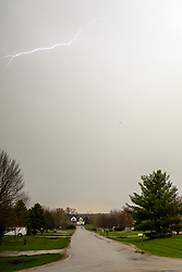 Lightning near WhiteTail Ridge north of Heyworth Illinois during a spring thunderstorm