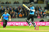 David Wiese of Sussex in action during the final of the Vitality T20 Finals Day 2018 match between Worcestershire Rapids and Sussex Sharks at Edgbaston, Birmingham, United Kingdom on 15 September 2018.