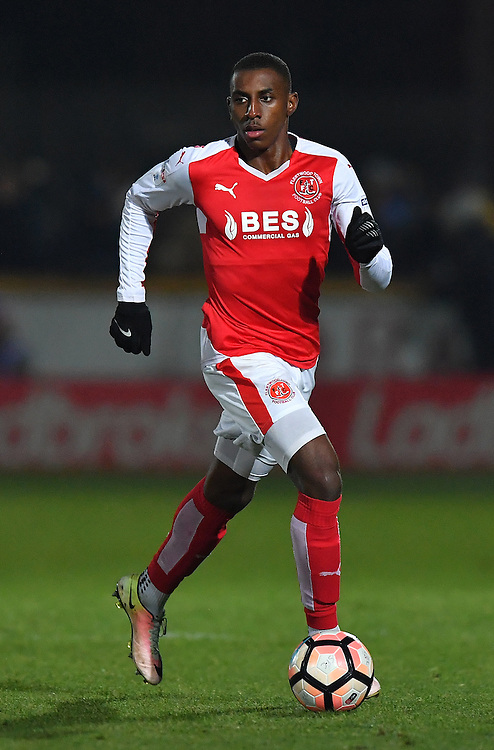 Fleetwood Town's Amari'i Bell<br /> <br /> Photographer Dave Howarth/CameraSport<br /> <br /> The Emirates FA Cup First Round - Southport v Fleetwood Town - Monday 7th November 2016 - Merseyrail Community Stadium - Southport <br />  <br /> World Copyright © 2016 CameraSport. All rights reserved. 43 Linden Ave. Countesthorpe. Leicester. England. LE8 5PG - Tel: +44 (0) 116 277 4147 - admin@camerasport.com - www.camerasport.com