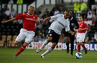 Photo: Steve Bond.<br />Derby County v Nottingham Forest. Pre Season Friendly. 31/07/2007. Craig Fagan attacks