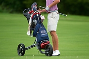 Matthew Riedel puts his club back into his AJGA golf bag during the Under Armour® / Jordan Spieth Championship presented by American Campus Communities at Trinity Forest Golf Club in Dallas, Texas on August 15, 2017. CREDIT: Cooper Neill for The Wall Street Journal<br /> JRGOLF