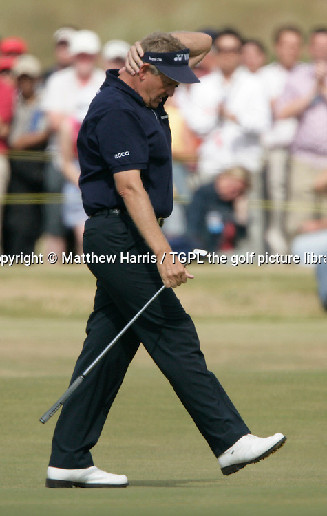 Colin MONTGOMERIE (SCO)  frustrated with his putting during fourth round The Open Championship 2005,St Andrews Old Course,St Andrews,Fife,Scotland.