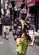 Flowering fashion on Brewer Street in Soho, London.