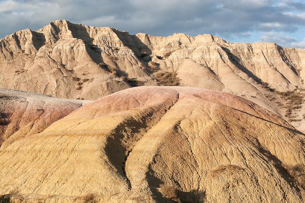 Yellow mounds overlook, Badlands National Park, South Dakota, USA.