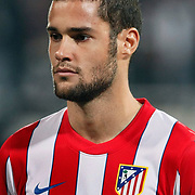 Atletico Madrid's Mario Suarez during their UEFA Europa League Round of 16, Second leg soccer match Besiktas between Atletico Madrid at Inonu stadium in Istanbul Turkey on Thursday March 15, 2012. Photo by TURKPIX