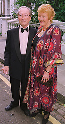 LORD & LADY HAMLYN he is the publisher, at a party in London on 25th June 1998.MIT 101a