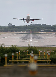 © Licensed to London News Pictures. 29/06/2020. Crawley, UK. An EasyJet aircraft takes off from London's Gatwick airport on  Gatwick Airport is getting ready for more holiday bookings after the Government agreed to open-air corridors to a number of countries a few days after Britain lifted most of the lockdown rules in England. Photo credit: Marcin Nowak/LNP