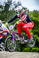 #23 (STANCIL Felicia) USA during practice at Round 3 of the 2019 UCI BMX Supercross World Cup in Papendal, The Netherlands
