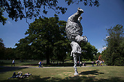 Frieze Sculpture 2017 opens to the public on July 5th 2017 in the English Gardens in Regents Park, London, England, United Kingdom. This is London's largest showcase of major outdoor works by leading artists and galleries, presenting a free outdoor exhibition for London and its international visitors throughout the summer months. Miquel Barcelo, Gran Elefandret 2008.