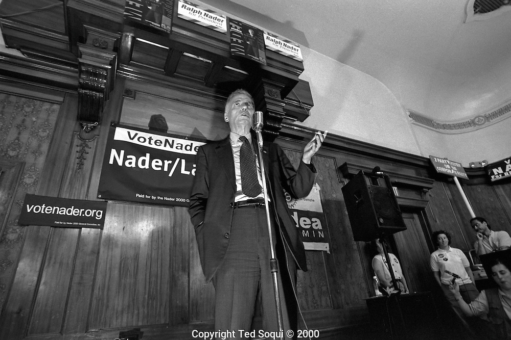 Candidate for US President Ralph Nader.