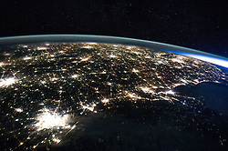 January 5, 2016 - Earth Atmosphere - NASA astronaut Scott Kelly took a photo of Houston and the Gulf Coast as the International Space Station flew overhead. (Credit Image: ? Scott Kelly/NASA via ZUMA Wire/ZUMAPRESS.com)