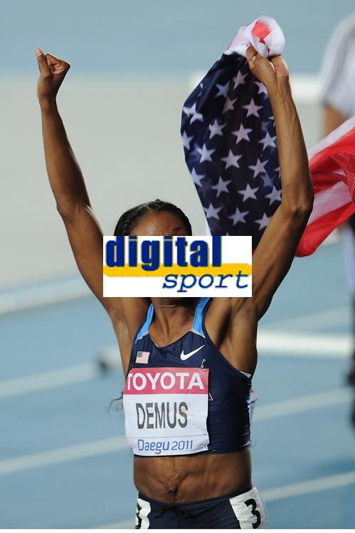 ATHLETICS - IAAF WORLD CHAMPIONSHIPS 2011 - DAEGU (KOR) - DAY 6 - 01/09/2011 - PHOTO : STEPHANE KEMPINAIRE / KMSP / DPPI - <br /> 400 M HURDLES - WOMEN - FINALE - LASHINDA DEMUS (USA)