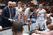 Time out Trento, EA7 Emporio Armani Milano vs Energia Dolomiti Trentino LBA Serie A Playoff Semifinale gara 5 stagione 2016/2017 Mediolanum Forum Assago, Milano 2 giugno 2017