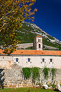 The Great Wall above the city center, Ston, Dalmatian Coast, Croatia