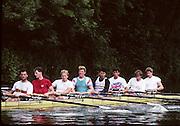 Molesey, Great Britain.  GBR M8+,  Bow XXXXXXXX, Tim FOSTER  Richard PHELPS  Jim WALKER, Ben HUNT-DAVIS, Steve Turner Rupert OBHOLZER ,  Jonny SINGFIELD, cox, Adrian ELLISON (c) 1992 British International Rowinig Training on the Henley Reach, Surrey,  [Mandatory Credit. Peter Spurrier/Intersport Images] +1992 +Molesey +Henley 1992 GBRowing Training, Molesey/Henley, United Kingdom