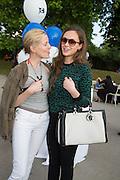 SYDNEY FINCH; CAMILLA AL FAYAD,  CHARLES FINCH'S CHUCS SWIMATHON 2013, SERPENTINE, Hyde Park, London. 4 July 2013.