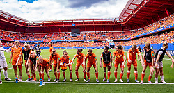 15-06-2019 FRA: Netherlands - Cameroon, Valenciennes<br /> FIFA Women's World Cup France group E match between Netherlands and Cameroon at Stade du Hainaut / Team Netherlands celebrate the 3-1 victory